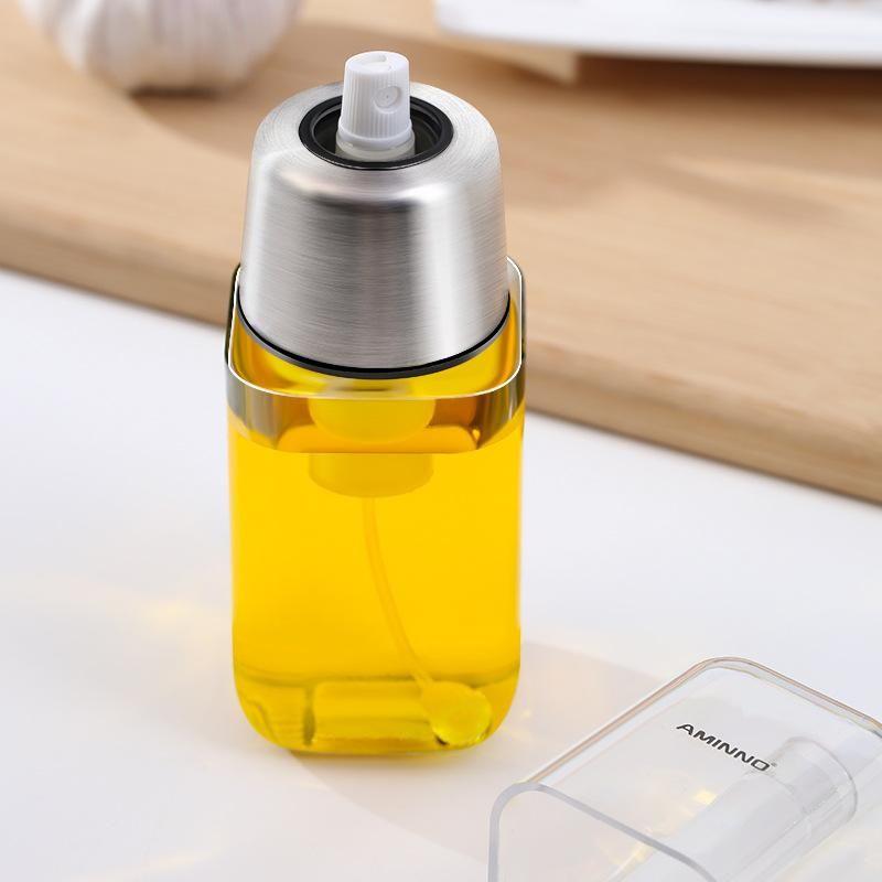 Öler Öl Sprühflasche Einspritzdüse Sprayer Topf Sauce Boote Küchenwerkzeuge Einspritzung Olive Stocked Sprühen BBQ DH0023