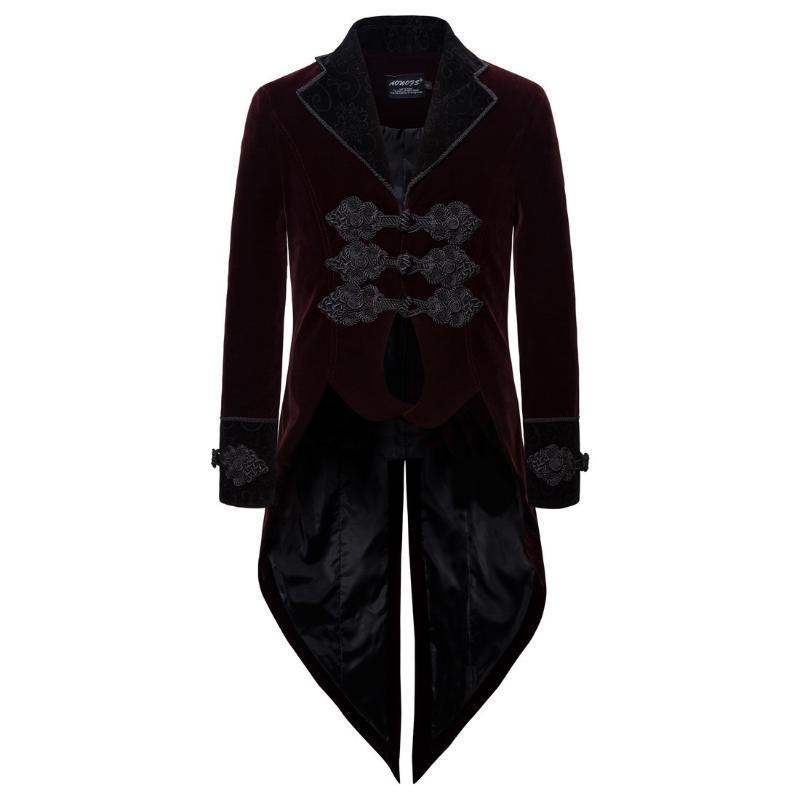 Мужские костюмы Blazers Business Личность Длинный стиль куртка вечернее платье джентльмен повседневный европейский размер XXL