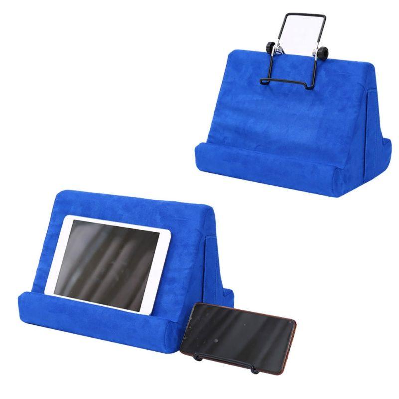 Portable éponge oreiller Support tablette Support de bureau stable Support réglable Multiangle téléphone universel ergonomique
