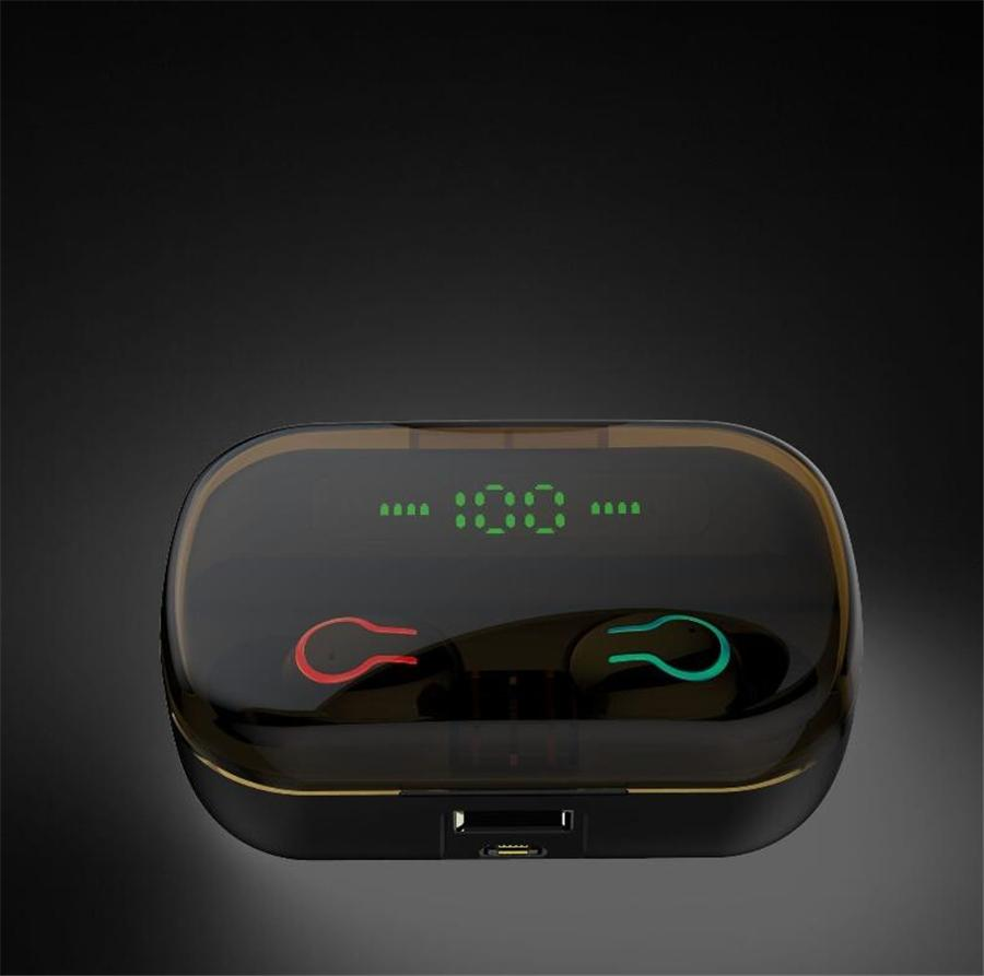 Mini TWS Earbuds V5.0 True Wireless Bluetooth Headset Cute Pig Mini Earphone with Charging Case Bluetooth 5.0 Earphones Earplugs #OU418