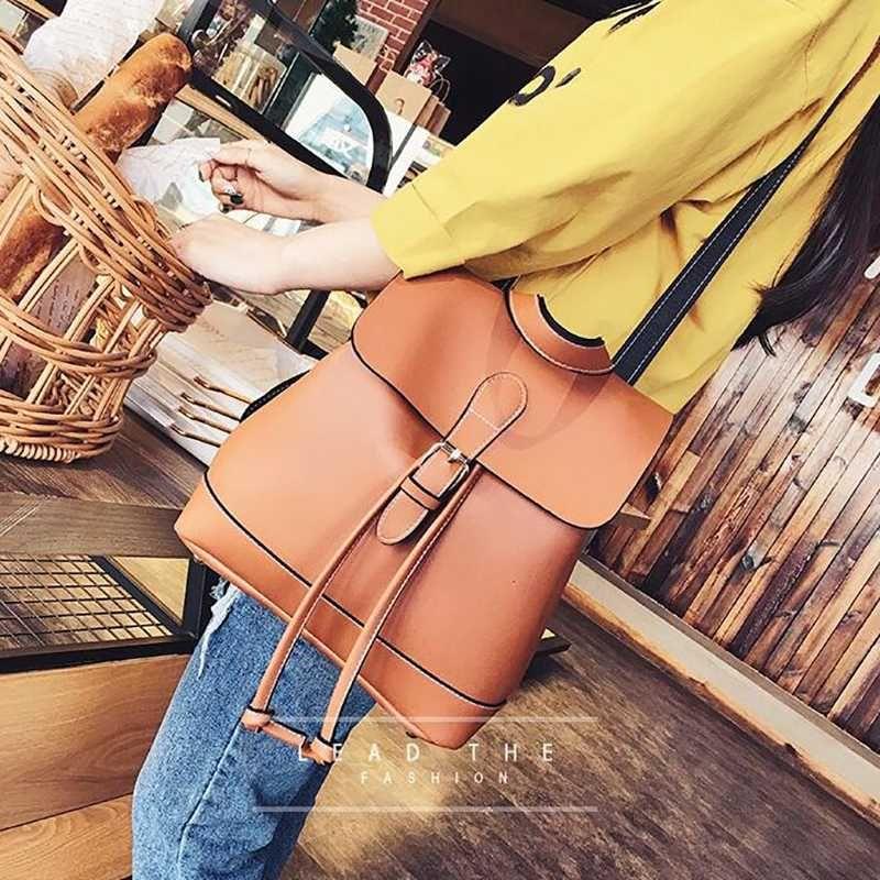 Vintage Rucksack Frauen Multifunktionale Schulrucksack für Teenager große Kapazitäts Kordelzug Travel Rucksäcke