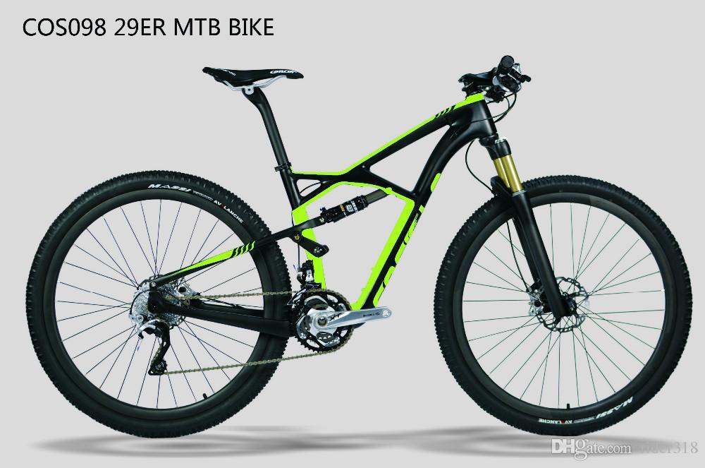 COS098 proveedor de china barato barato suspensión de fibra de carbono bicicletas de bicicleta de montaña MTB accesorios partes marco 29er envío gratis