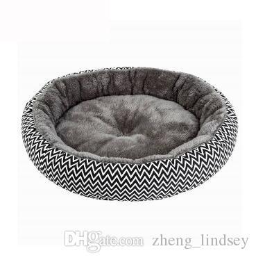 Dog Inverno de pelúcia macia cama redonda Quente Almofada filhote de cachorro Teddy Small Dog Bed Casa Pet Bed For Dogs Cat