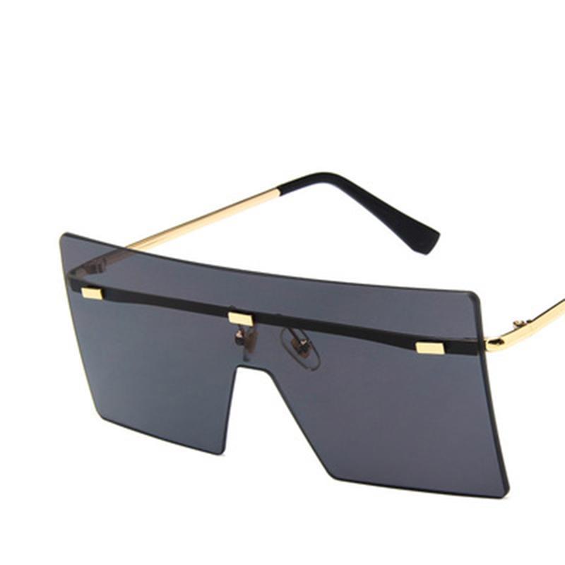 남여 패션 2019 대형 광장 무테 선글라스 여성 평면 위에 큰 태양 안경 여행 그라데이션 UV400