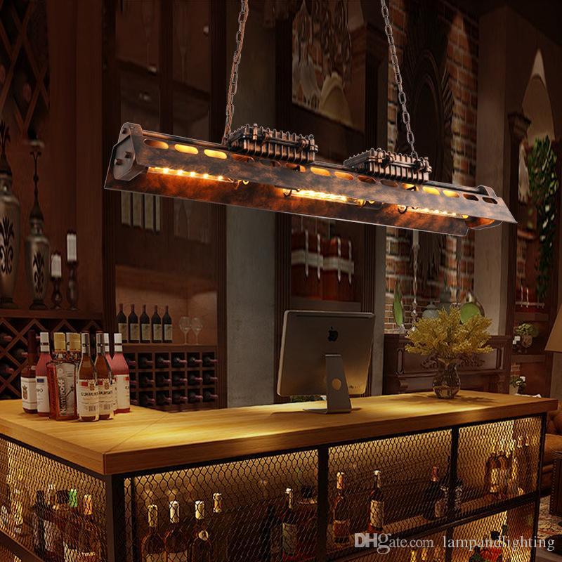 골동품 녹 색 산업 로프트 금속 펜던트 E27 에디슨 LED 전구 조명 레트로 중단 매달려 바, 레스토랑 장식 램프