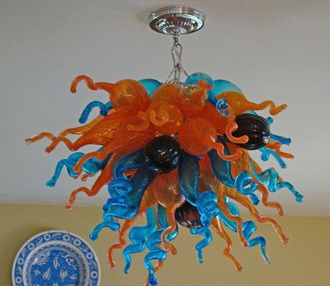 Bella stili vintage lampadario 100% soffiato a bocca Arte Moderna di cristallo di illuminazione a sospensione per High soffitto