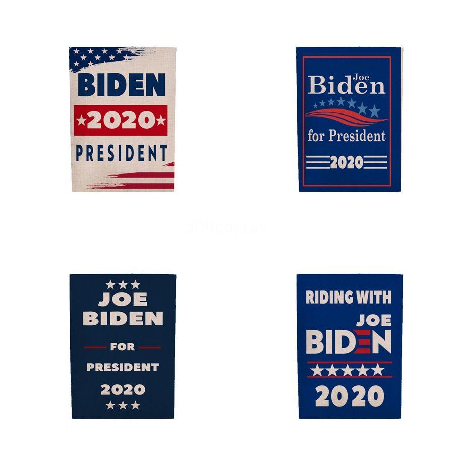 4 Style Biden Hand Signal-Flagge 45 * 30cm Donald 2020 Flags Brief drucken Halten Sie Amerika Große Banner wasserfestem Papier Hand Waving Flags Dc581 # 880