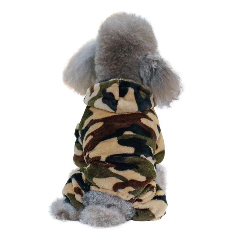 Pet Dog Camouflage fleece roupa filhote de cachorro Brasão capa quatro patas casaco para Costumes Cães Roupa Impresso Casacos