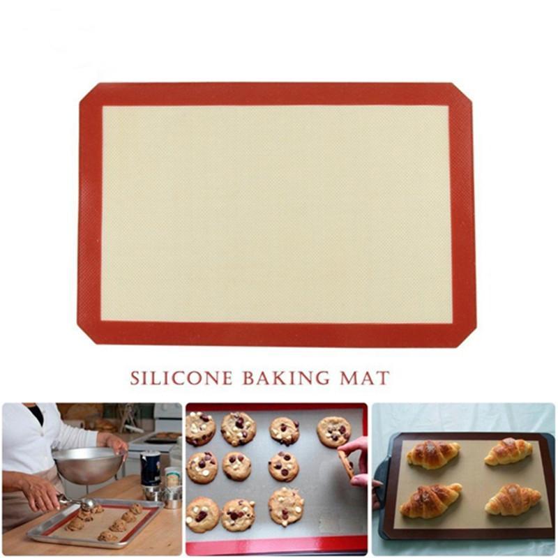 Baking Mat antiaderente cottura del silicone Pad per una biscotto della torta Macaron antiaderente 1 PCS Large Size 42 * 29,6 centimetri cottura Liner Promozione