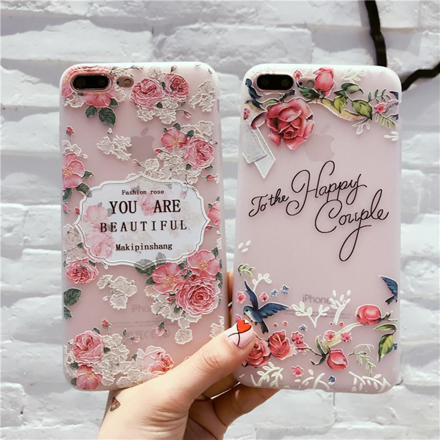 Rose Flower Kitty Carton Smooth Soft Glossy TPU Cover For iphone XS Max/XS/XR/X8/8plus/7/7plus/6/6plus ,cell phones case,mobile phone case