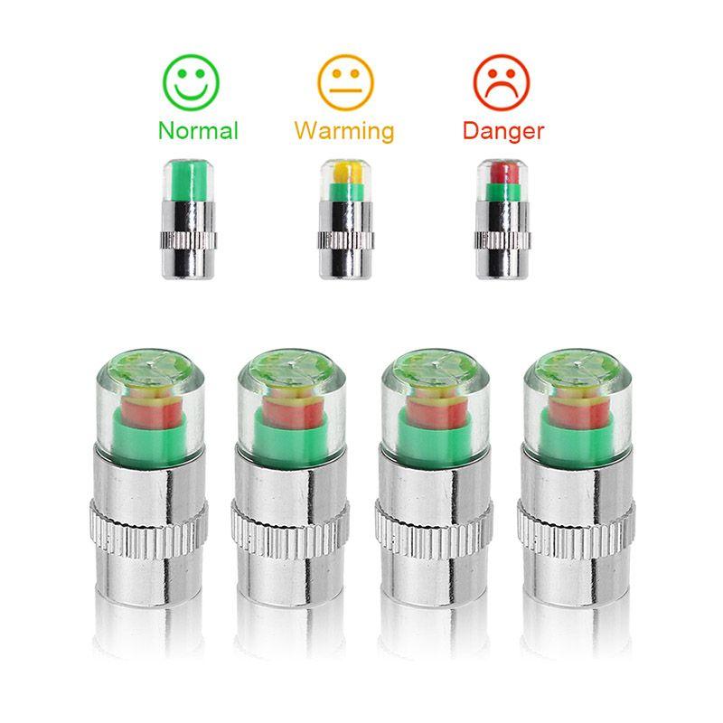 2.4 Bar / 36PSI Monitoraggio allarme pressione pneumatici per auto Indicatore di rilevamento Tappi stelo valvola pneumatici auto Accessori per auto visibili