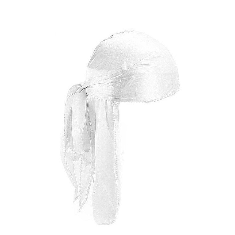 2020 Новая мода мужская атласная Бандана Тюрбан Парики Мужчины Женщины Silky Durag головной убор оголовье Pirate Hat Аксессуары для волос Silk оголовьем