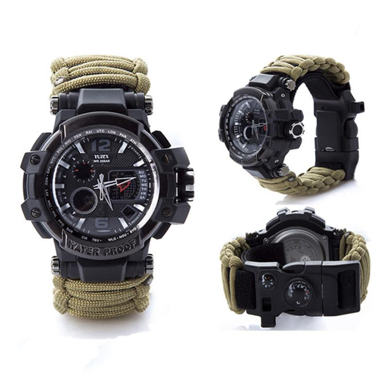 New Outdoor Survival Watch Bracelet Multi-functional Waterproof 50M Watch For Men Women Camping Hiking Military Tactical Camping Tools (8)