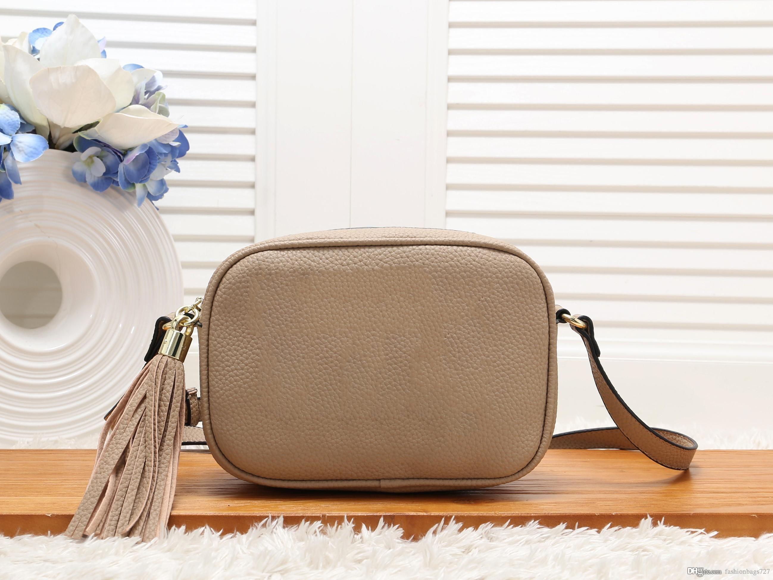 sac borsa Gucci Frauentaschen Brieftasche CD-Taschen GG Handtaschen Frauen weisefrauenentwerfers Leder Tassel Soho-Tasche Disco-Schulter-Beutel-Geldbeutel-Handtaschen Luxus-Desig