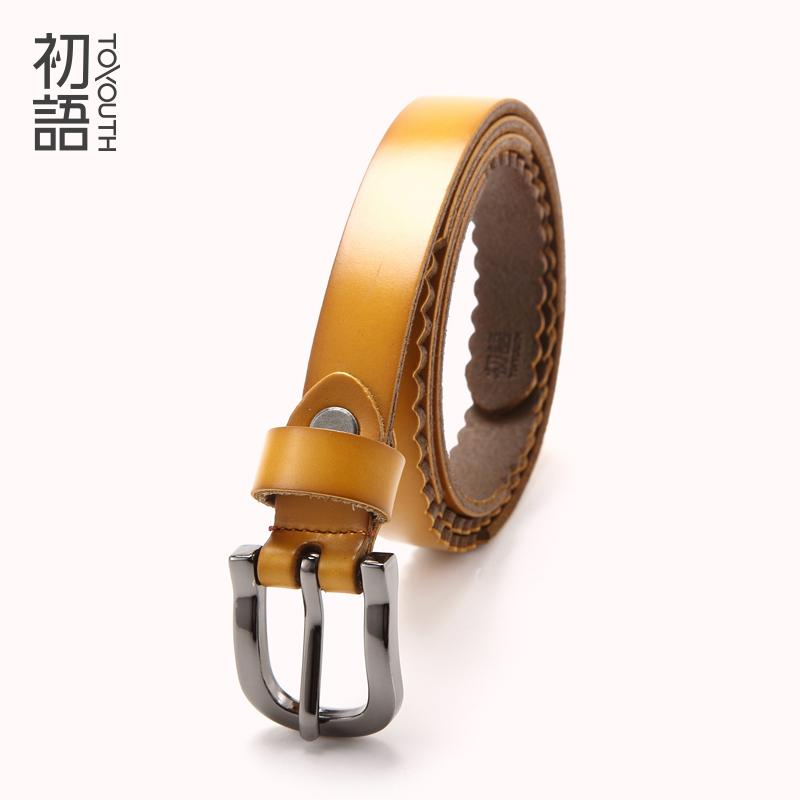 wholesale Ladies Belt All-Match Vintage Leather Belt Casual Fashion Belts With Skirt Two layers of Cow-skin multi-function