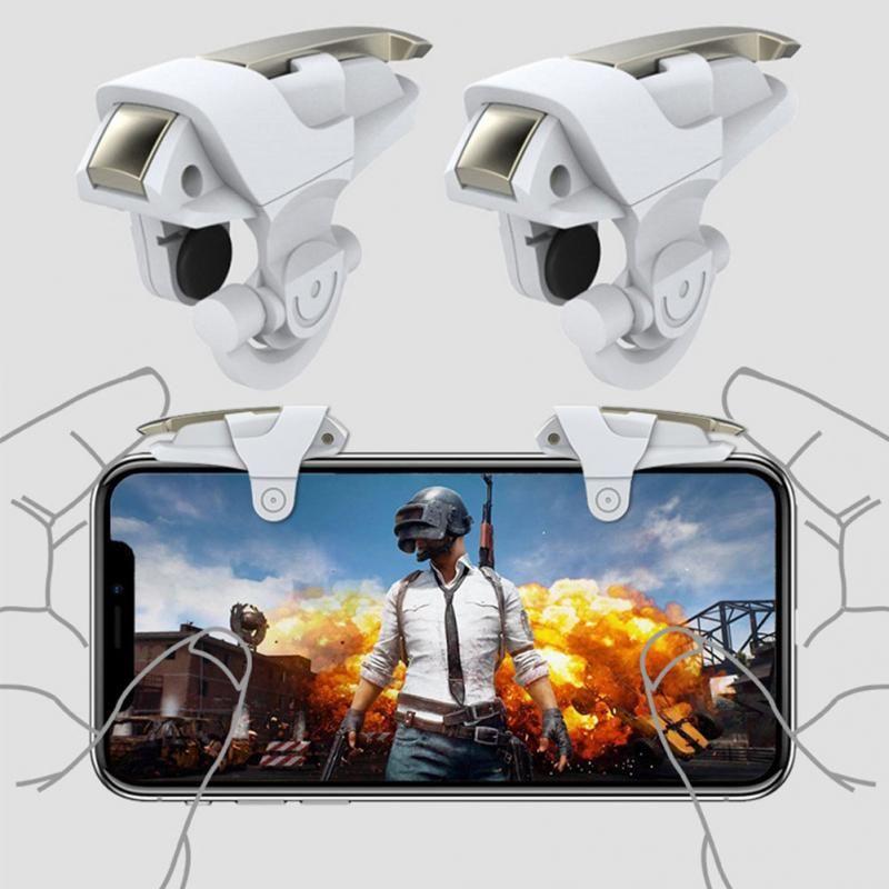 1 Pair Cep Telefonu Oyun Tetik Kontrol Shooter Yangın Düğme Kolu Için PUBG / Survival Kuralları # 1102