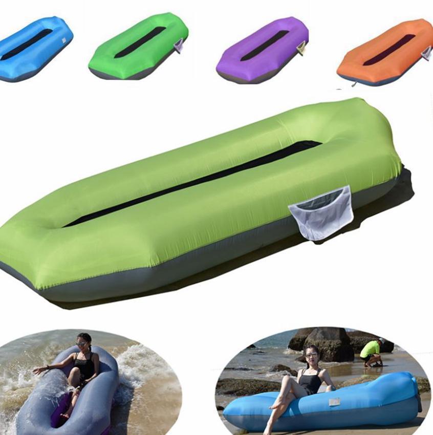 نفخ الهواء السرير أريكة كسول النوم التخييم حقيبة شاطئ المتسكع الأريكة الأراضي والمياه يمكن استخدام الهواء أريكة LJJK2145