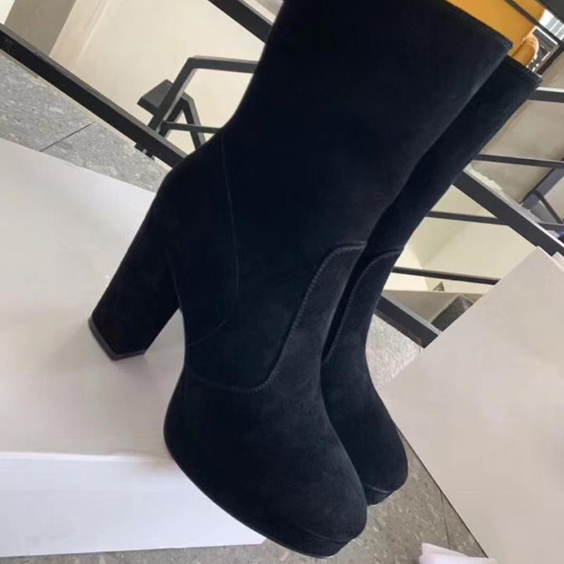 Zapatos de tacón Chunky Martin Botas Mujeres Desierto botines botas para mujer del diseñador de moda del monograma clásico botines 35-41