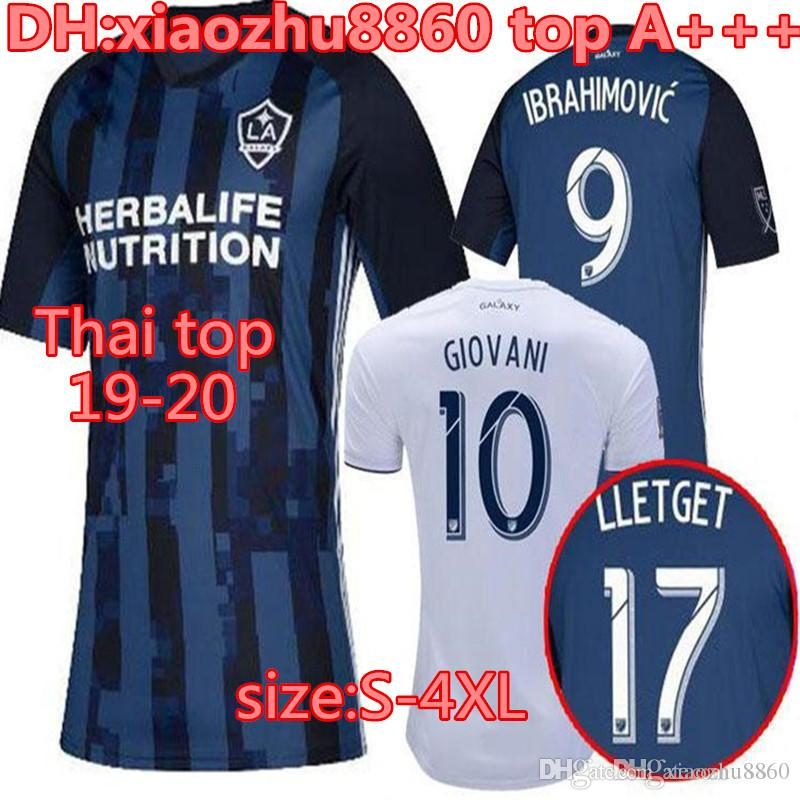 large size S-4XL Los Angeles 2019 2020 LA GALAXY IBRAHIMOVIC SOCCER JERSEYS 19 20 J.DOS SANTOS GIOVANI KAMARA LLETGET Away FOOTBALL SHIRT