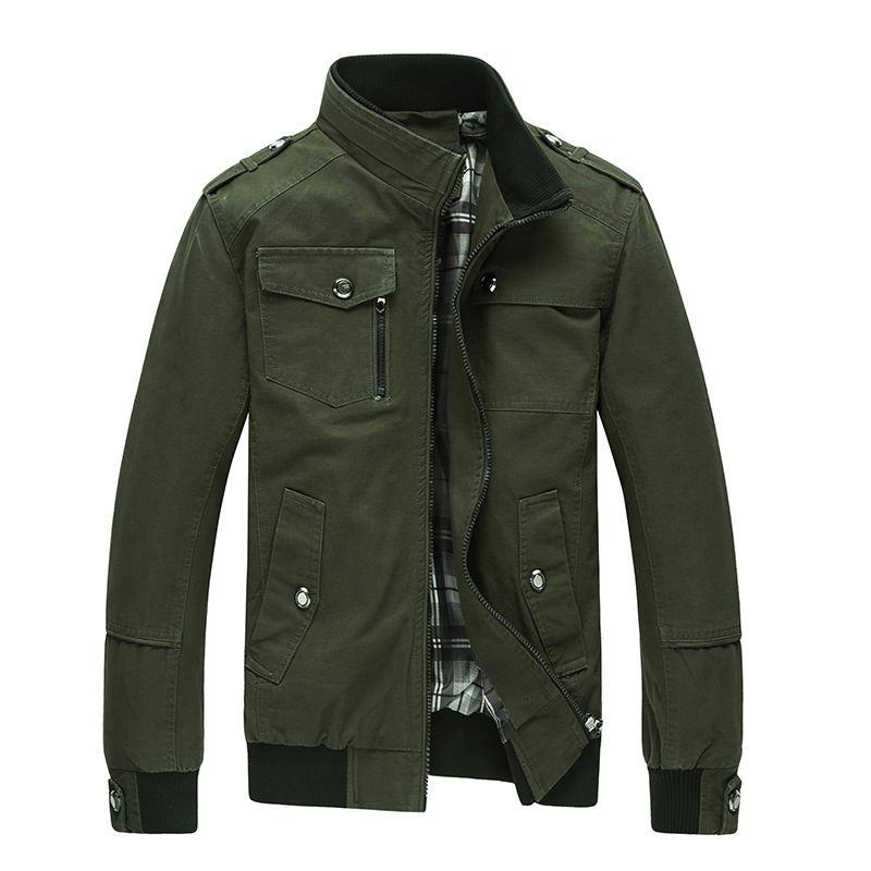 عارضة الرجال سترة الربيع الجيش سترة عسكرية الرجال معاطف الشتاء الذكور قميص الخريف معطف الكاكي جديد