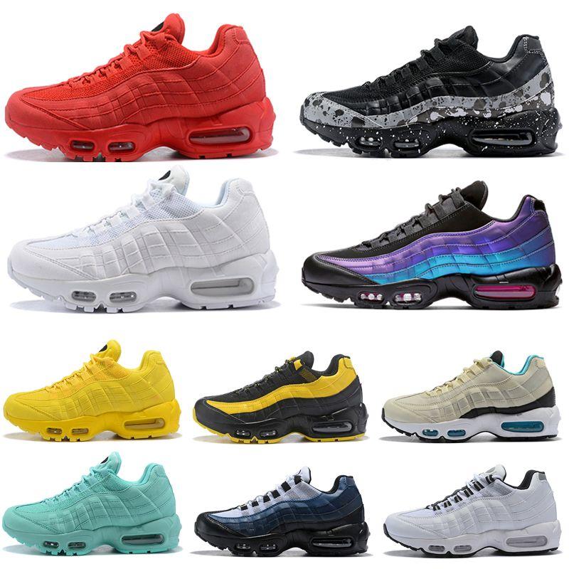 Scarpe sportive originali per uomo Donna 2019 Laser fucsia giallo rosa tutto nero bianco Uomo grigio rosso Scarpe da ginnastica Sneakers Scarpe da corsa
