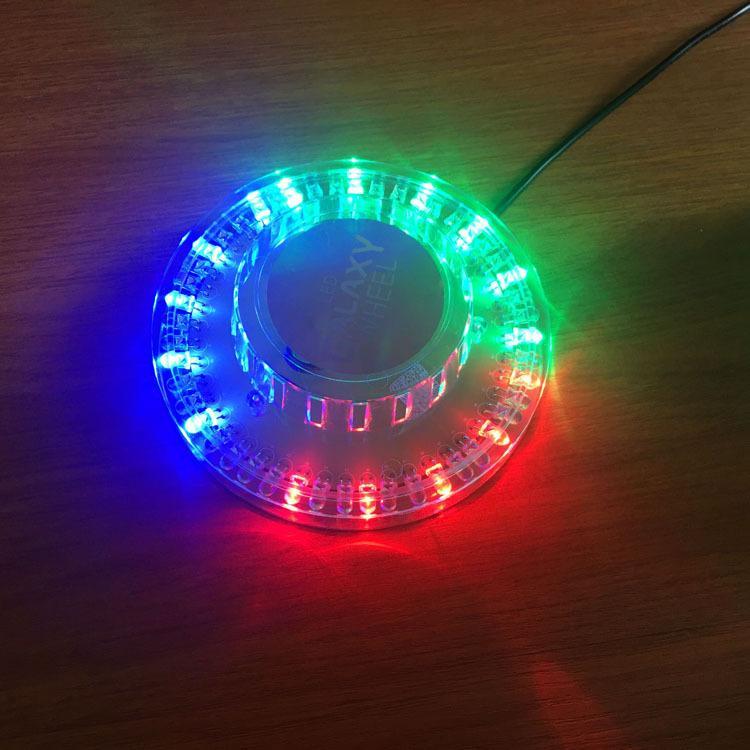 48Patterns RGB LED Disco Light 5V USB Recharge RGB Laser Projection Lamp Stage Lighting Show for Home Party KTV DJ Dance Floor