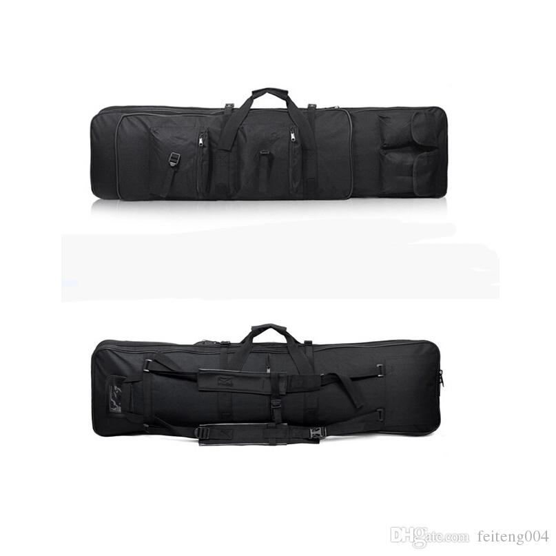 47 inch 120 CM SWAT Dual Tactical Heavy Duty Messenger Large Capacity Bag Carrying Case For Rifle Gun Black Wholesale #627237