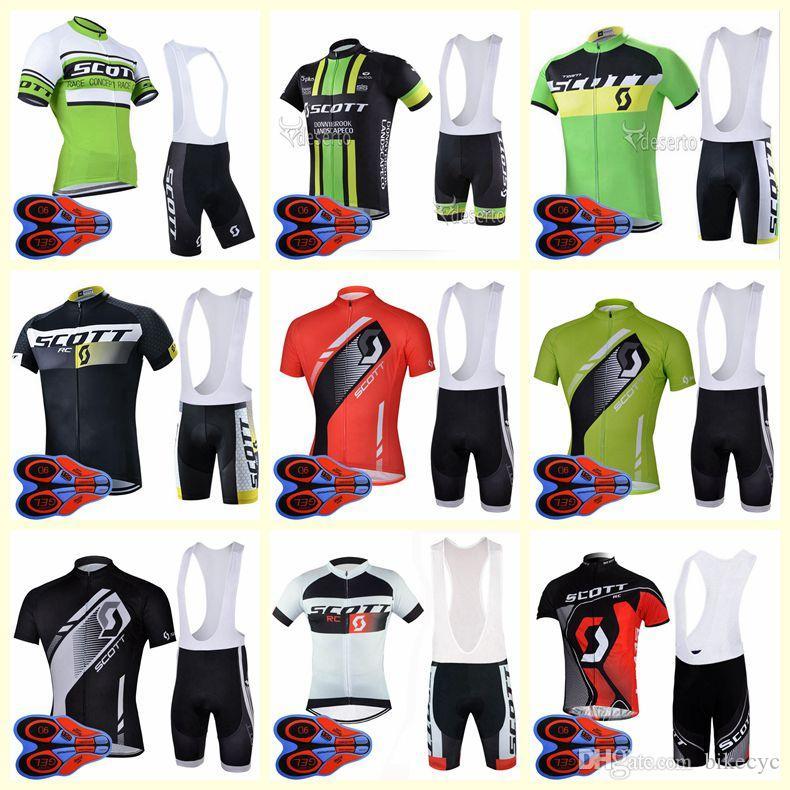 فريق سكوت ركوب الدراجات قصيرة الأكمام جيرسي مريلة السراويل مجموعات الجملة 9D جل الوسادة أعلى جودة العلامة التجارية الدراجة الرياضية U82107