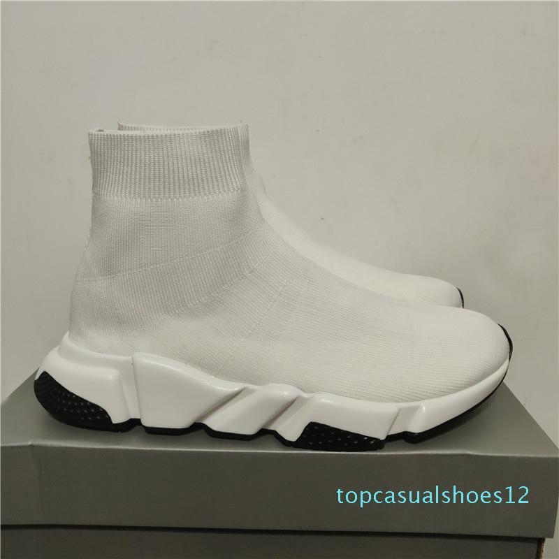 Designer Sneakers Speed Trainer Nero Rosso Gissola Triple Nero piana di modo Calzino Stivali Casual Shoes Speed Trainer Runner T12