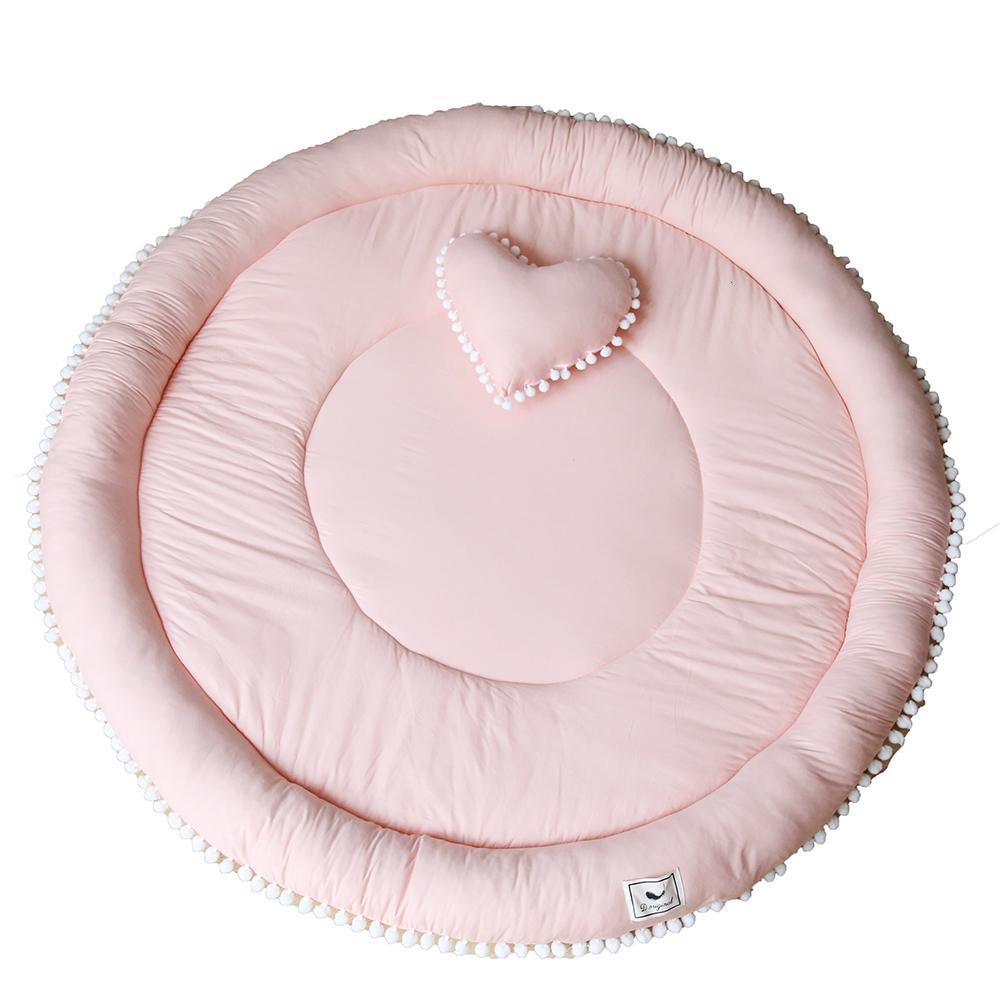 Terre Pad Europe du Nord Maison Ameublement Pom Boule pur coton circulaire en trois dimensions Paquet Bord enfants Épaississement