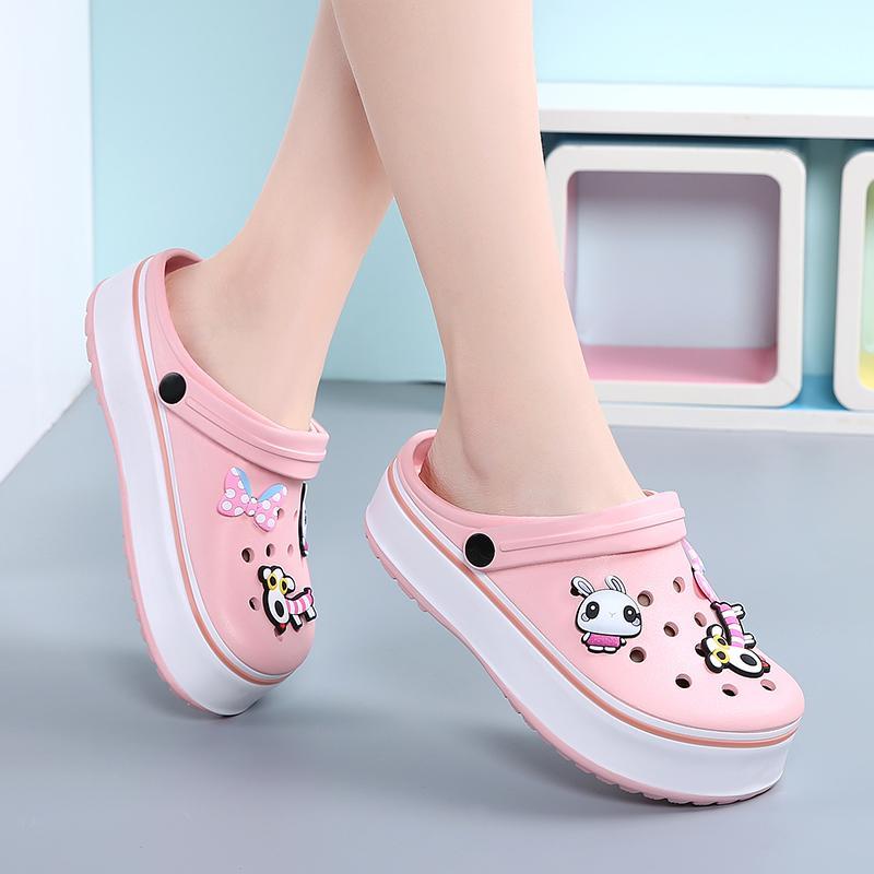 2020 Kadınlar Sandalet Yaz Sandalet Bayan Düz Ayakkabı Bayan Açık Beach Ayakkabı Bahçe Takunyalar Rahat su Duş Terlik Y200520 Slip On