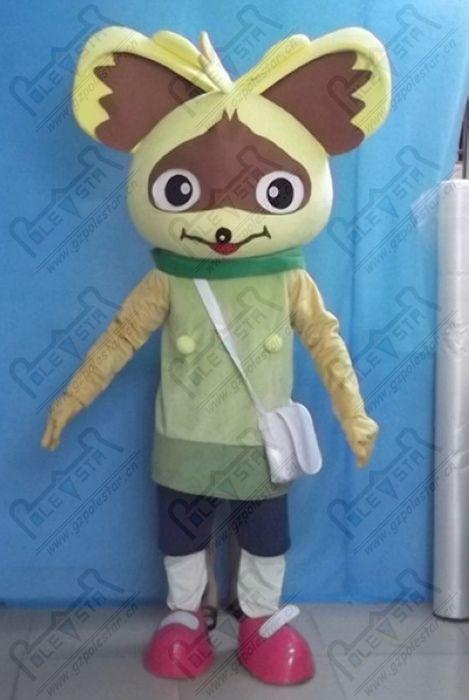 costumes de mascotte renard Auriculaire dessin animé costumes Fox Fennec STAR POLE MASCOT COSTUMES