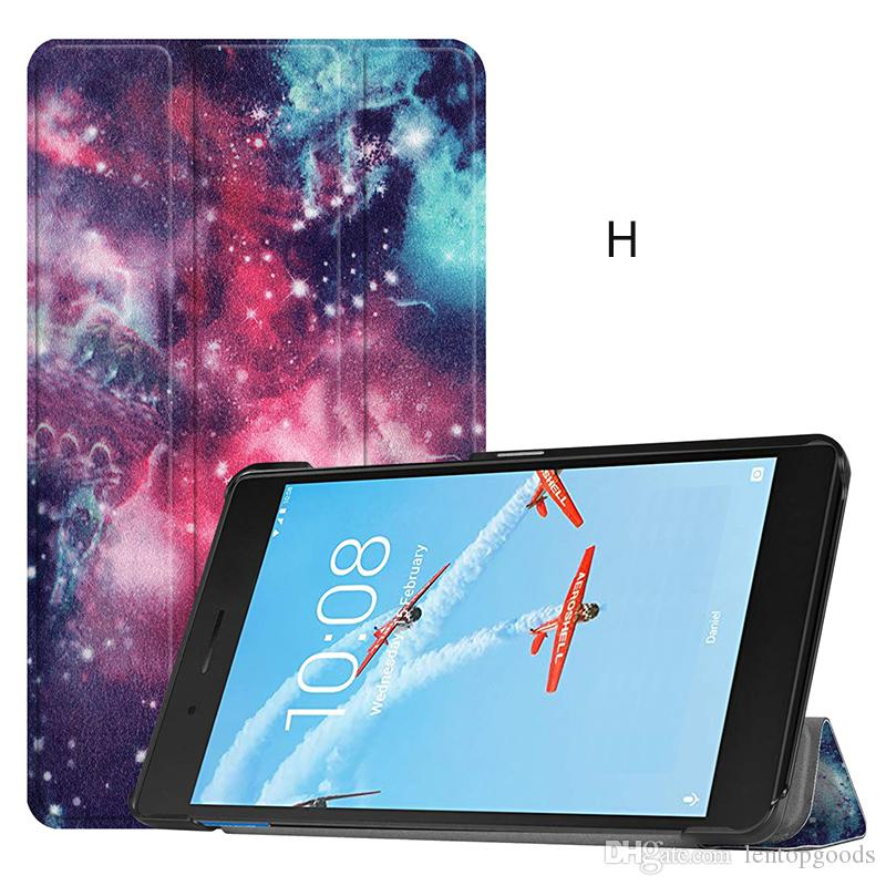 3 Folding Flip Cover PU Leather Case for Lenovo Tab E7 TB-7104F 2018 7 inch Tablet+Stylus
