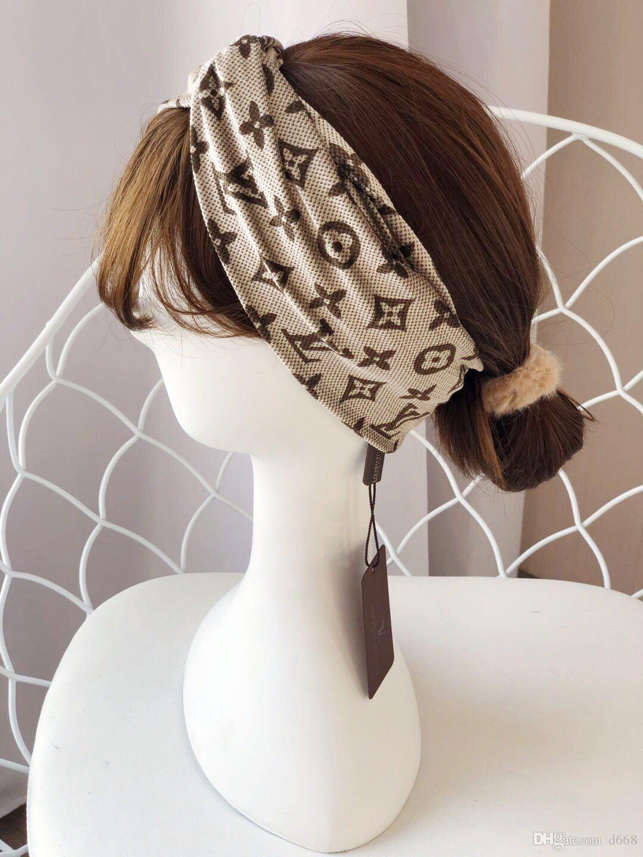 Благородные сексуальные женщины классический письмо тюрбан дизайнерские принты повязки для девочек Hairbands для девочек Headwrap бандана аксессуары для волос ювелирные изделия