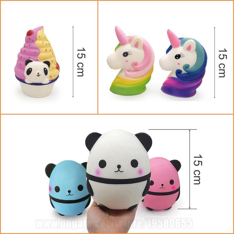 Squishies Toys Panda Unicorn Cake Strawberry