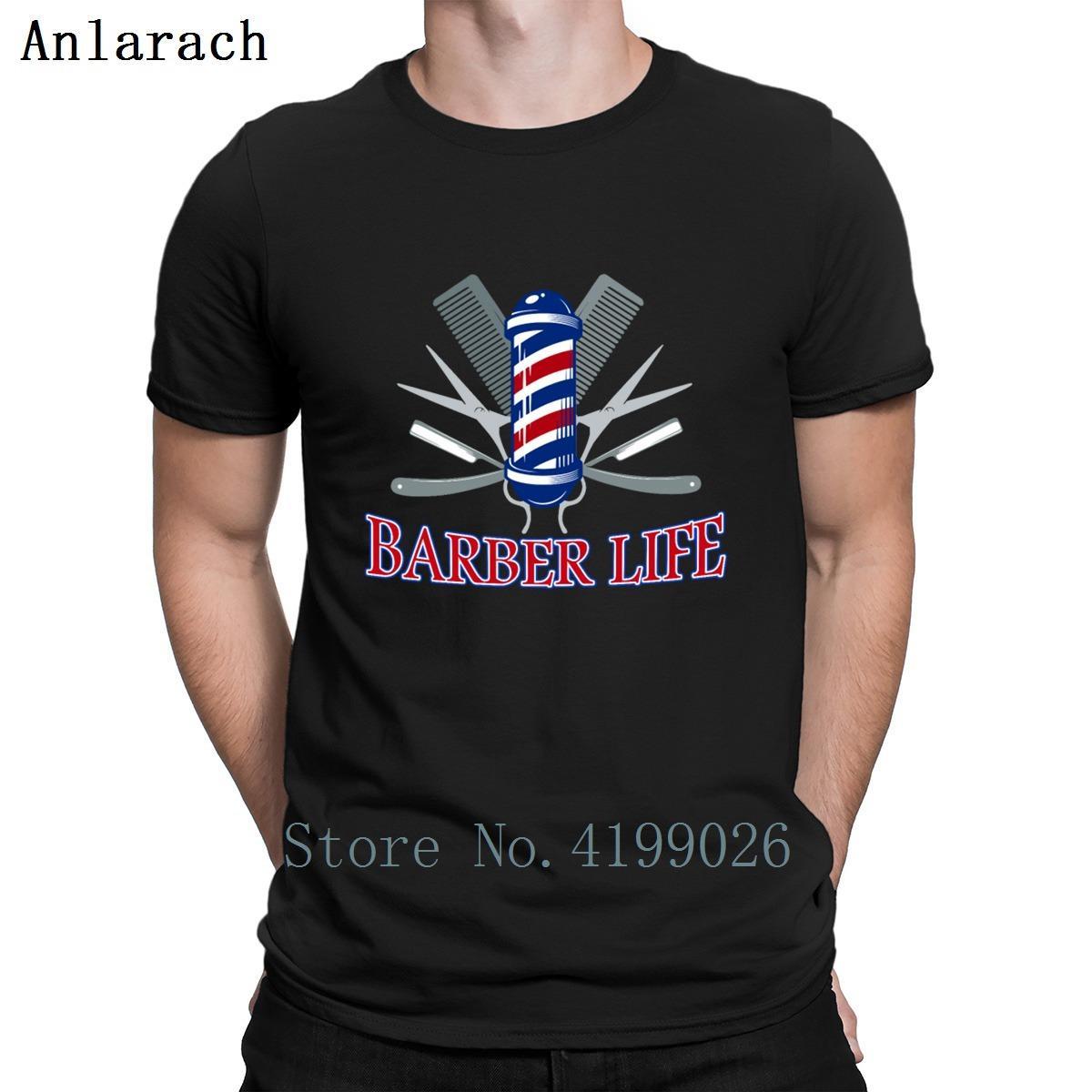 Barber Vida Cabeleireiros barbeiro T shirt legal Homens Fashions presente personalidade engraçada camisetas Top Tee Primavera Outono mais novo