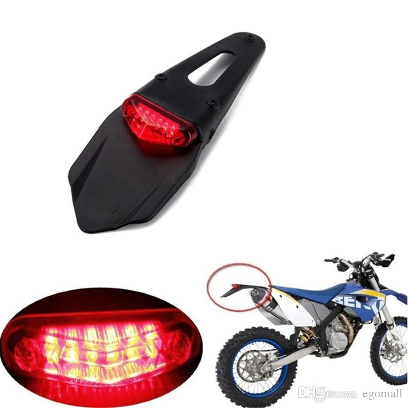 Motorcycle Tail Light Tail Light Universal Motorcycle Brake Stop Rear Tail Light Universal Motorcycle LED Running Rear Fender ATV Dirt Bike LED Lamp DH