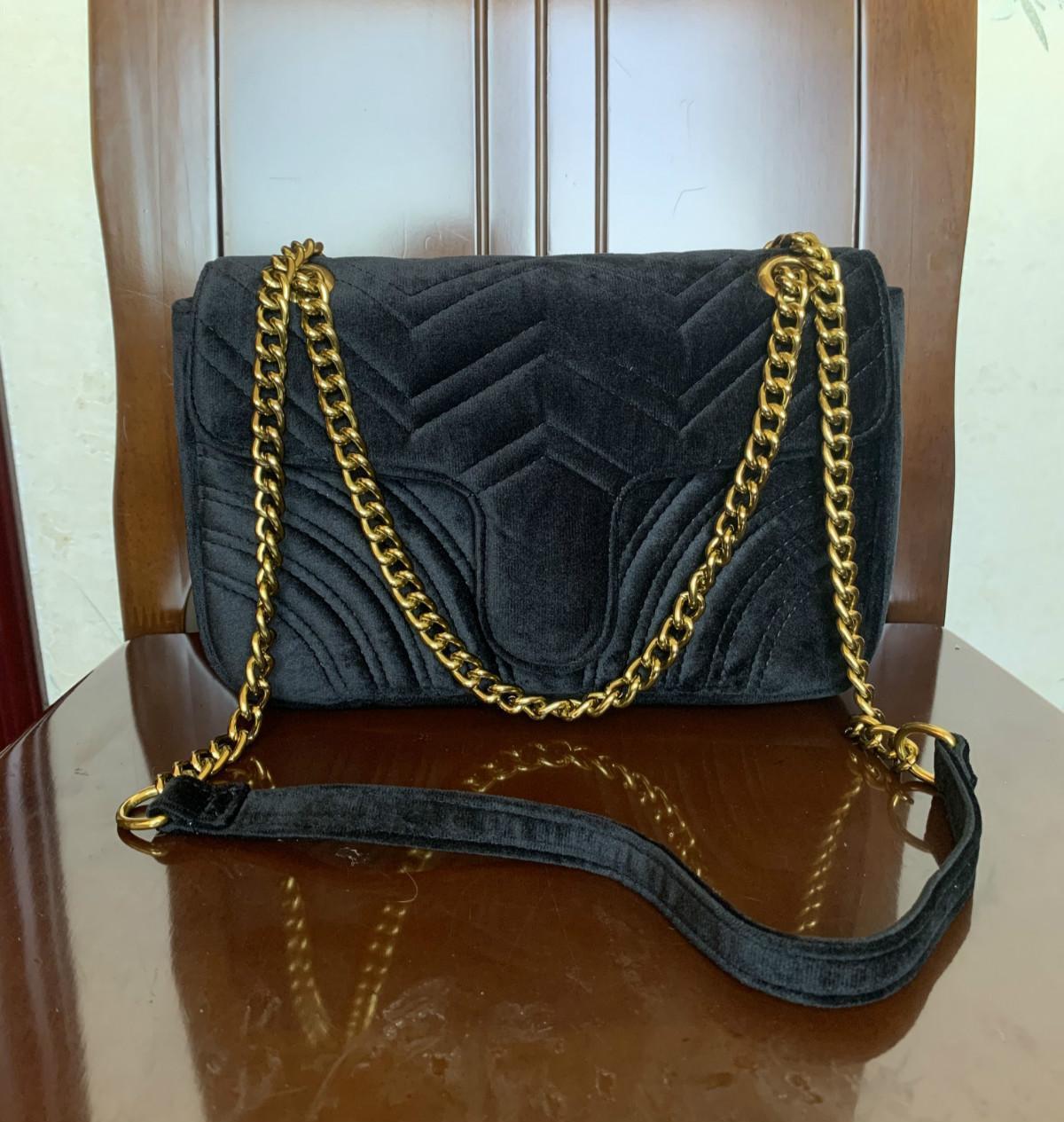 2018 TOP Moda bolsa de maquiagem cadeia de preto saco famoso saco de luxo partido Marmont veludo ombro Mulheres designer sacos gratuito shiopping # 5118