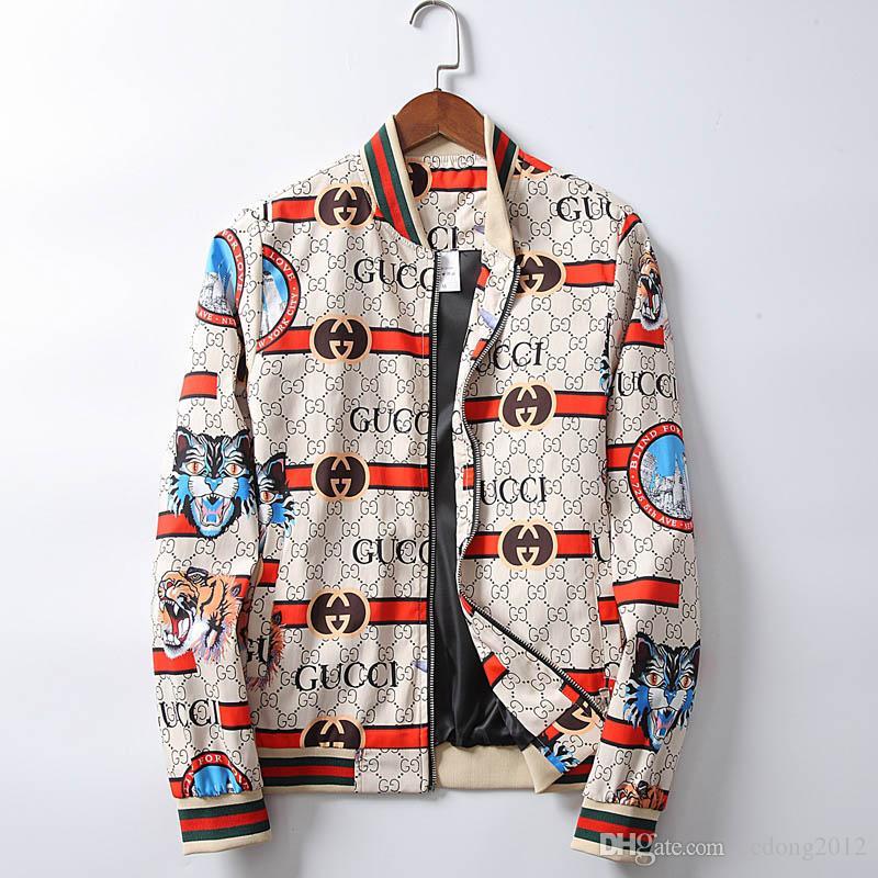 2019 새로운 패션 브랜드 자켓 남성 겨울 가을 슬림 피트 남성 디자이너 의류 레드 남성 캐주얼 재킷 슬림 플러스 사이즈의 M-3XL