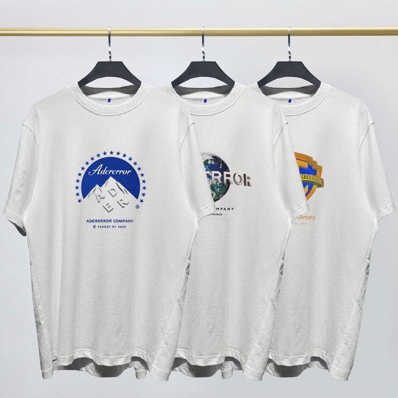 Tide Marke Männer und Frauen Kurzarm-T-Shirt Ader Fehler drei Haupt Film Giants Logo-Muster gedruckt Kurzarm-T Japan und Südkorea