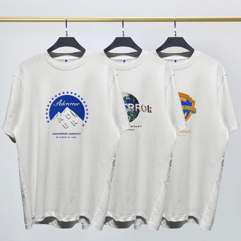 Прилив бренд мужчин и женщин короткие-рукавами t-рубашка Адер ошибки трех основных гигантов фильм логотип шаблон печатных короткими рукавами t Япония и Южная Корея