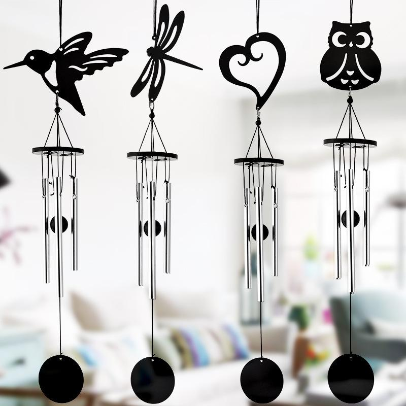 Hummingbird criativo de vento de Bell Net Vermelho, Moderno, Metal Wind Chimes fresco Música Ornamento de suspensão Decoração metal Wind Chimes