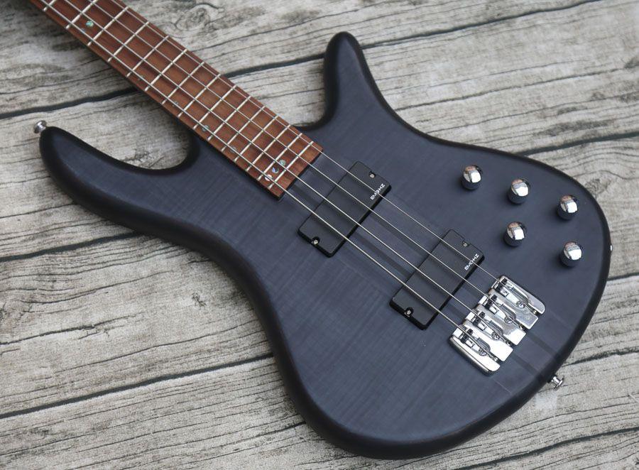 изготовленная на заказ электрической бас-гитара, шея через бас-гитару Tbk