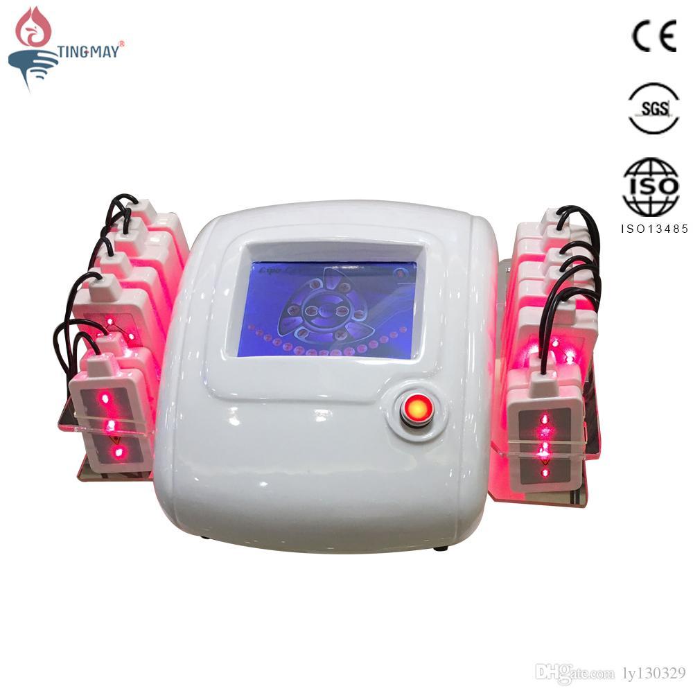 Portabel 650nm diod Lipo Laser Slimming Machine 14 Lipolaser Pads