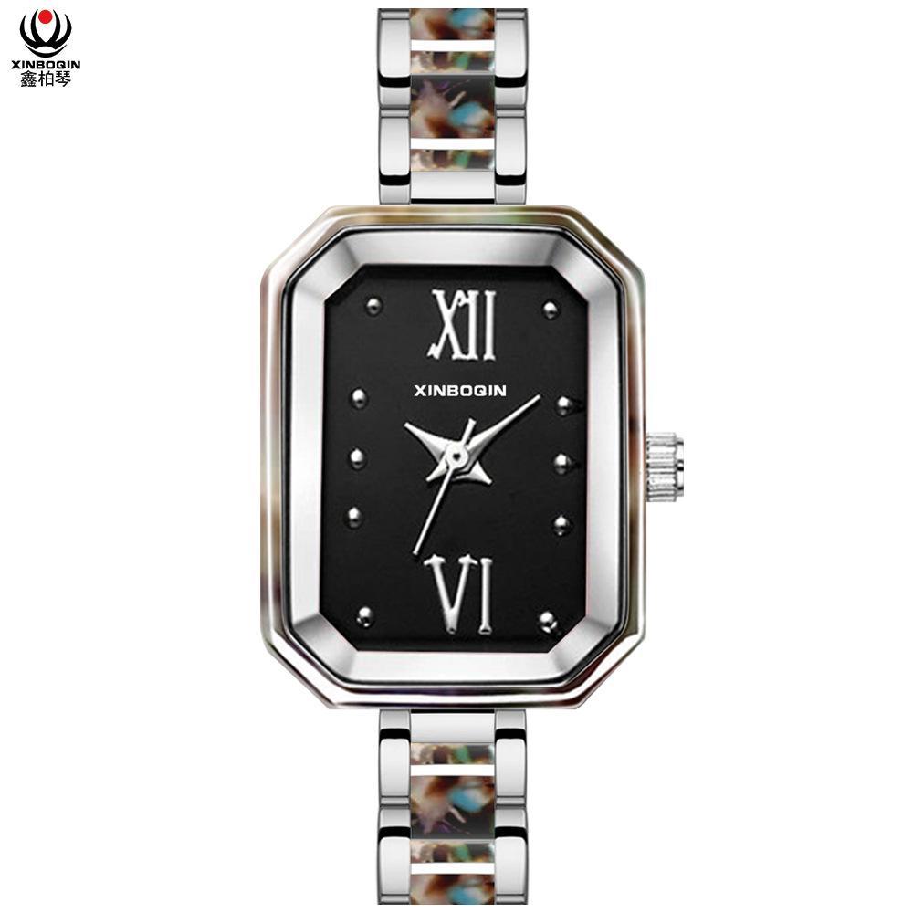 Uhr-Fabrik-Customization Ihrer Marke ursprüngliches Design Rechteckige Luxus-Frauen-Quarz-Uhr