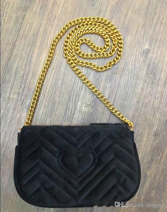 High quality Velvet shoulder bag designer Cross Body Satchel for women winter handbag small pouch Document Briefcase Totes chain bags