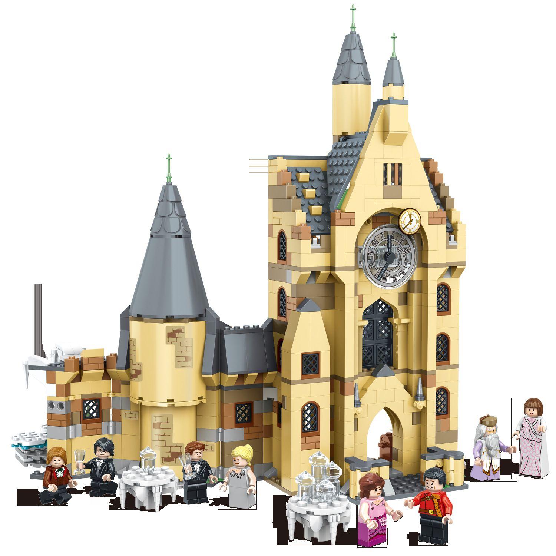 922pcs هاري سلسلة أفلام برج الساعة التوافق بناء كتلة اللعب طوب تعليمية هدية عيد الميلاد