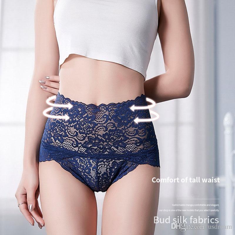 Encaje Butt Lift Underwear Boxers Transparente Cintura alta Calzoncillos de control Glúteos Calzoncillos Mujeres Bragas Lencería Drop Ship 190486
