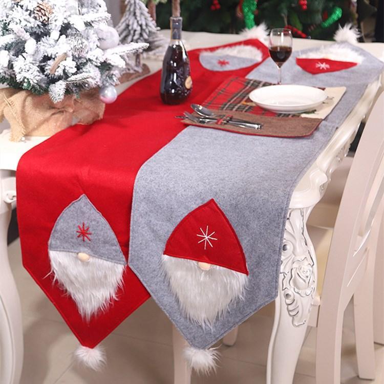 flag175 الجدول عيد الميلاد * 35CM غابة شجرة عيد الميلاد الجدول القماش غطاء للمنازل السنة الجديدة الديكور الجدول عداء T2I51435