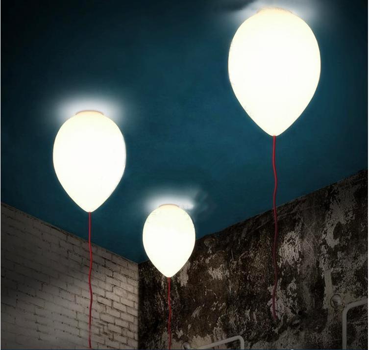 yaratıcı yatak odası oturma odası çocuk odası İskandinav süt beyaz balon tavan lambası